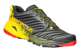 La Sportiva Akasha Trail Running Shoes (Men's) - Black Yellow - Find Your Feet Australia Hobart Launceston Tasmania
