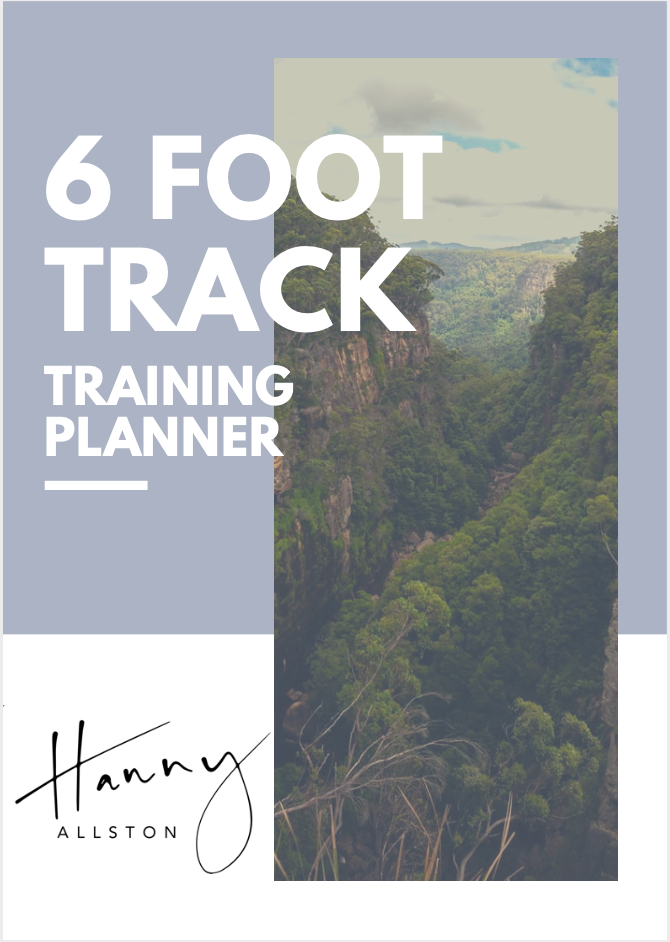 Hanny Allston: 6 Foot Track Training Planner