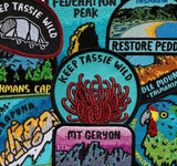 Keep Tassie Wild - Find Your Feet Australia Hobart Launceston Badge Bumper Sticker