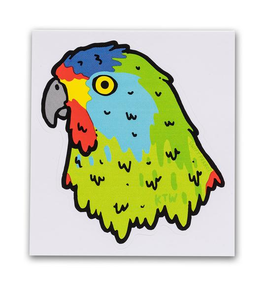 Keep Tassie Wild - Parrot Sticker - Find Your Feet Australia Hobart Launceston Tasmania