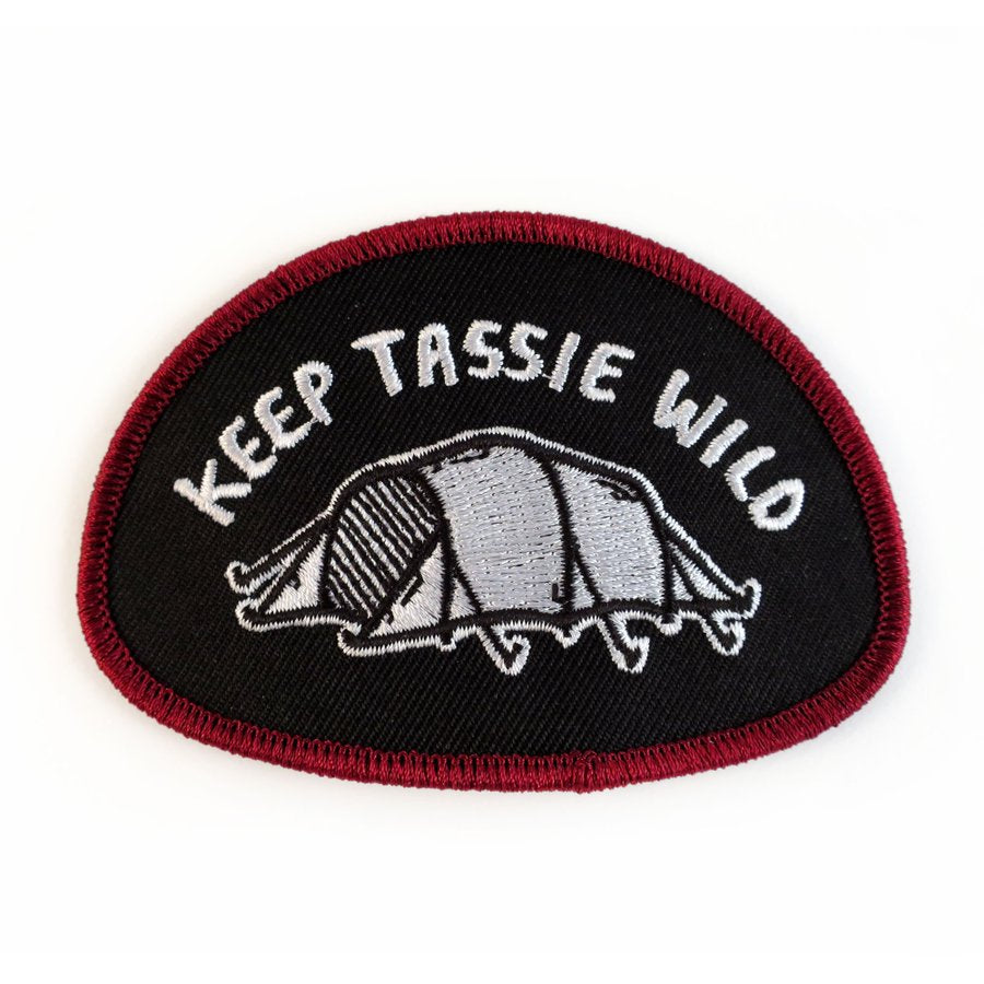 Keep Tassie Wild - Tent Badge - Find Your Feet Australia Hobart Launceston Tasmania