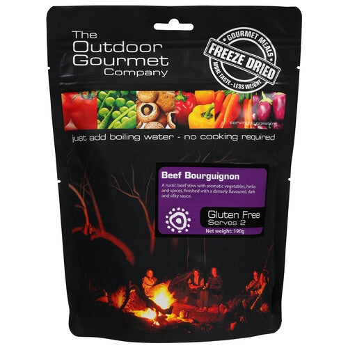 Outdoor Gourmet Company Meals - Beef Bourguignon - Find Your Feet Australia Hobart Launceston Tasmania