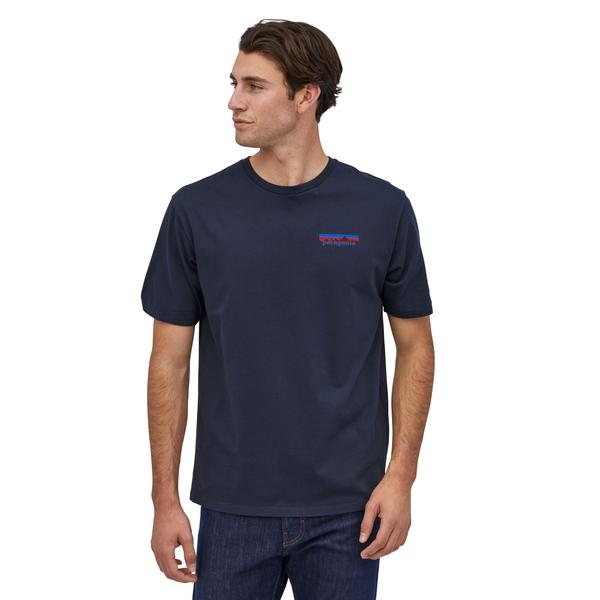 Patagonia Together for the Planet Logo Organic T-Shirt (Men's) - New Navy - Find Your Feet Australia Hobart Launceston Tasmania
