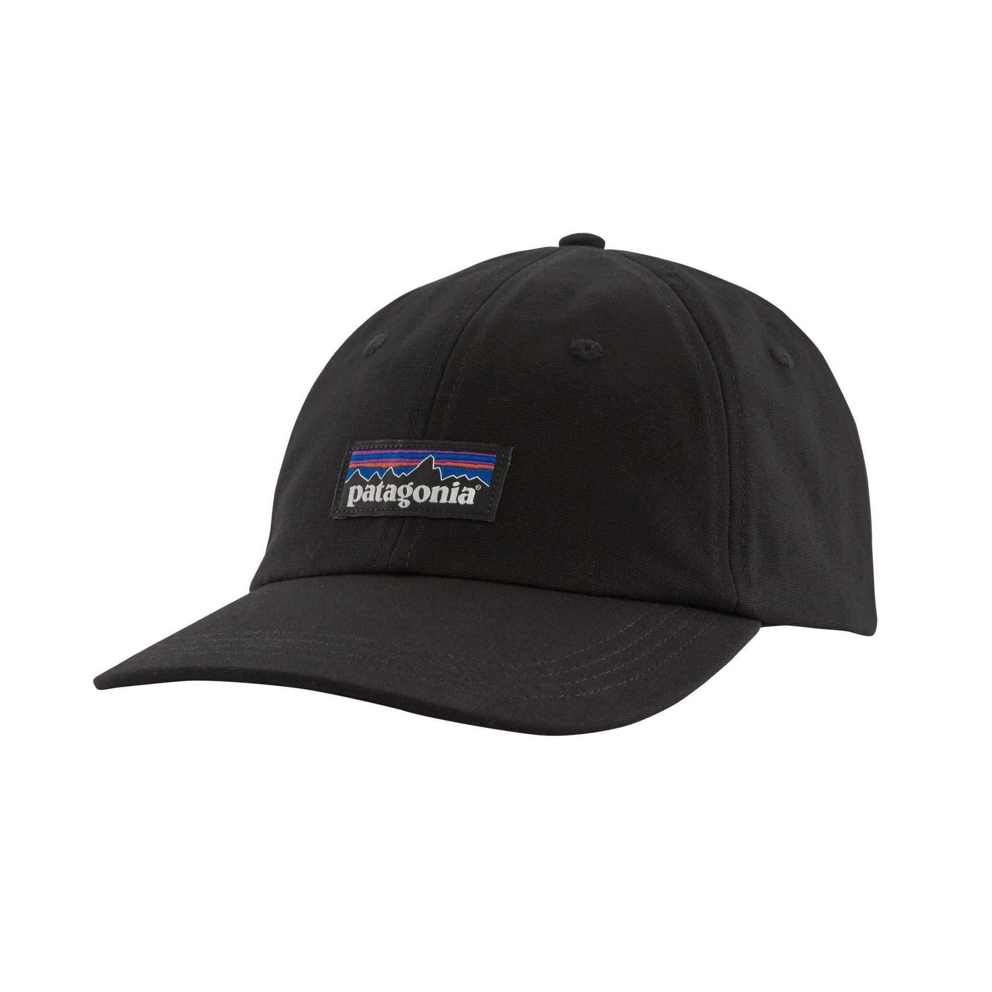 Patagonia P-6 Label Trad Cap - Black - Find Your Feet Australia Hobart Launceston Tasmania