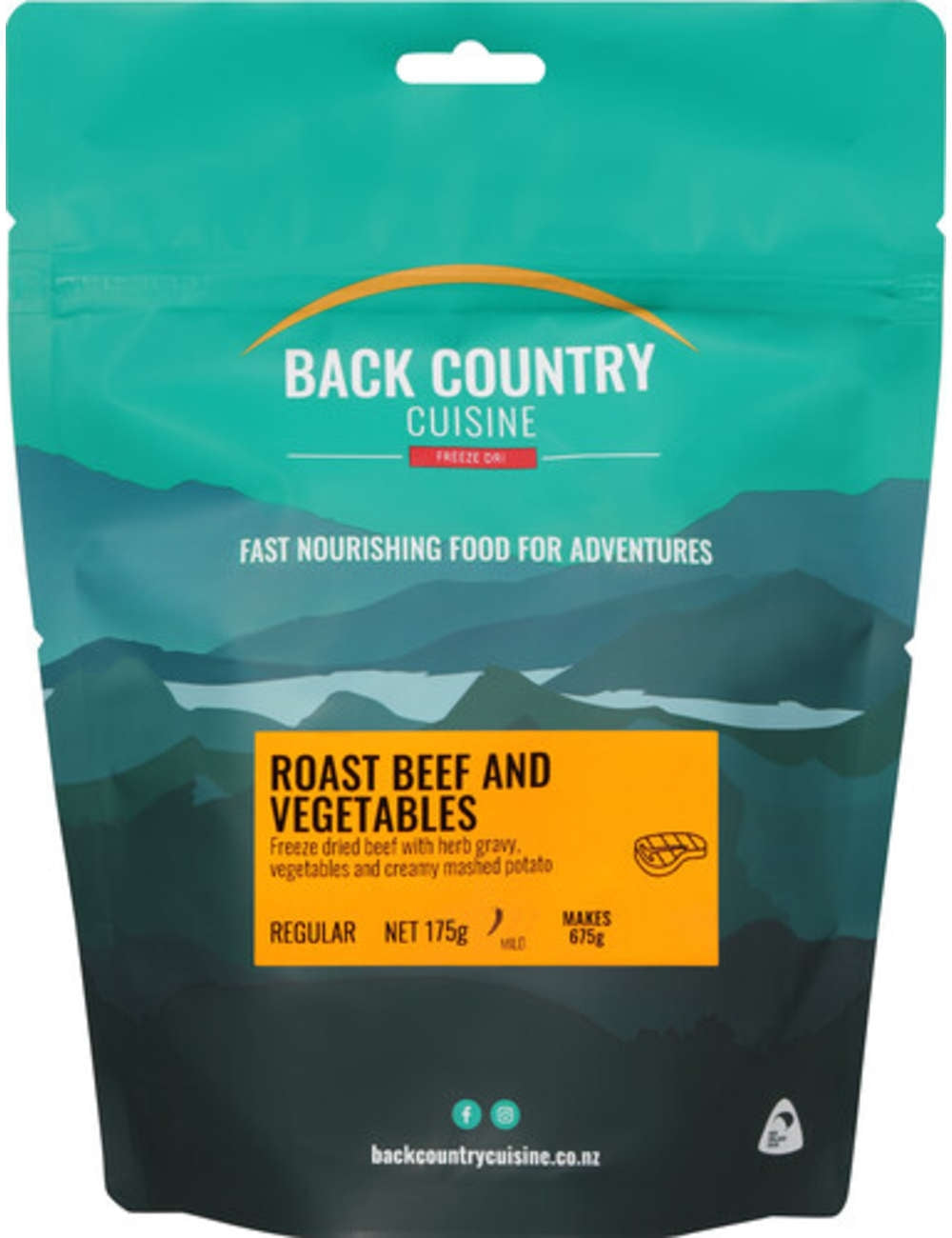 Back Country Cuisine Roast Beef and Vegetables - Find Your Feet Australia Hobart Launceston Tasmania