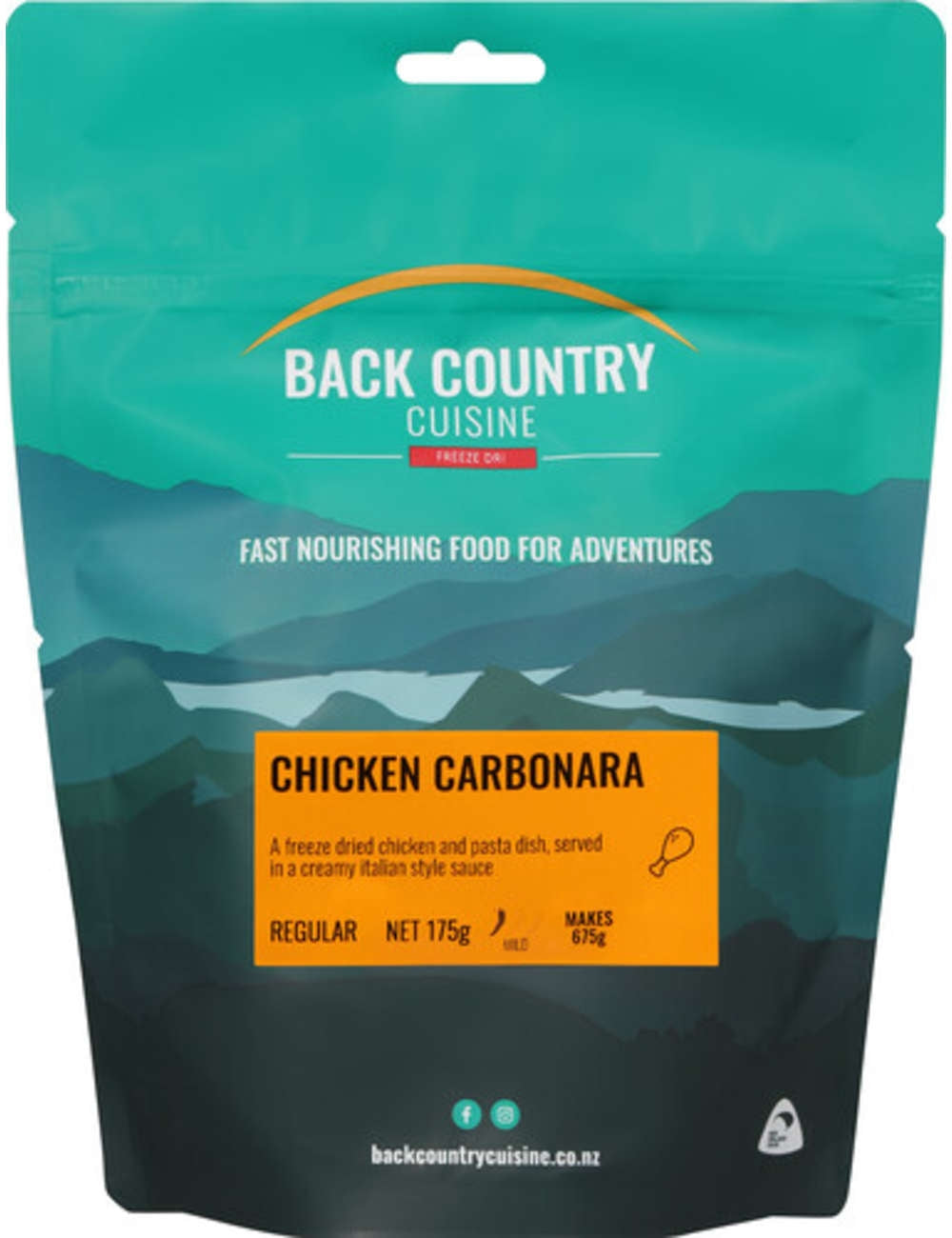 Back Country Cuisine Meals - Chicken Carbonara - Find Your Feet Australia Hobart Launceston Tasmania