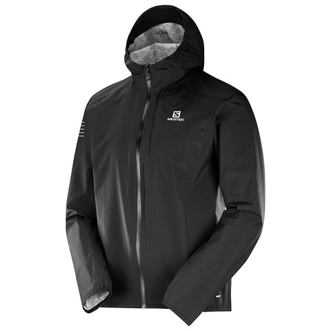Salomon Bonatti Waterproof Running Jacket (Men's) - Black w/ Black - Find Your Feet Australia
