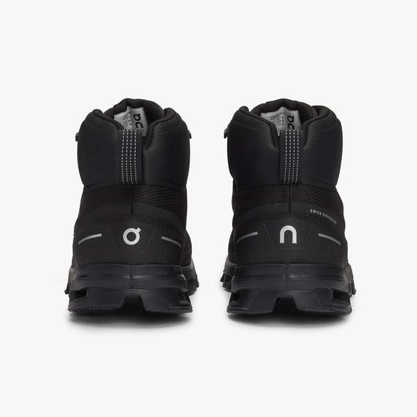 On Cloudrock WP Hiking Mid Boot All Black (Women's)