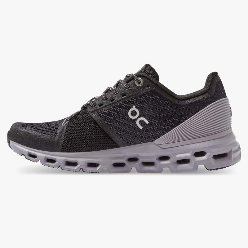 On Cloudstratus Road Running Shoe Black Lilac (Women's) - Find Your Feet Australia Hobart Launceston Tasmania