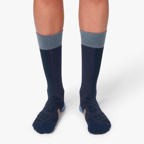 On High Sock (Women's) - Navy Grape - Find Your Feet Australia Hobart Launceston Tasmania