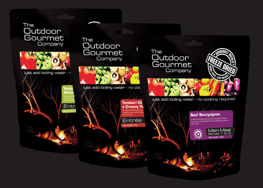 Outdoor Gourmet Company Meals - Find Your Feet Australia Hobart Launceston Tasmania