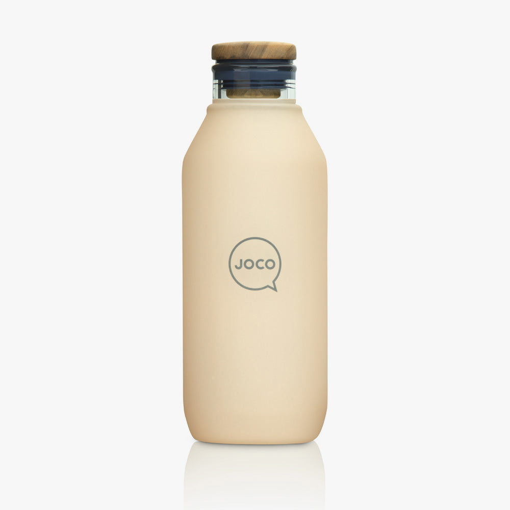 Joco Glass Flask Velvet Grip 600ML (20oz) - Amberlight - Find Your Feet Australia Tasmania