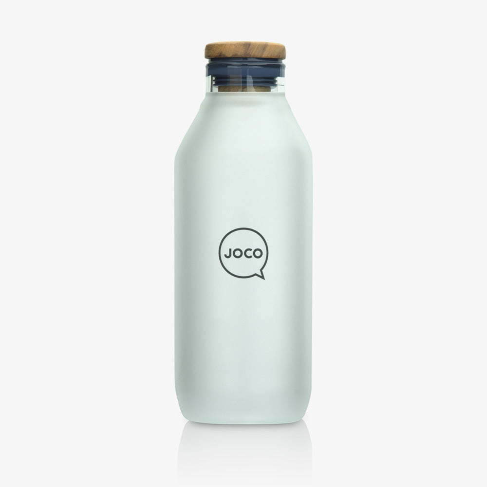 Joco Glass Flask Velvet Grip 600ML (20oz) - Neutral - Find Your Feet Australia Tasmania