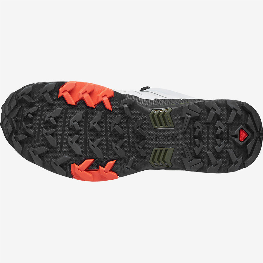 Salomon X Ultra 4 GTX Trail Hiking Shoes (Men's) Lunar Rock Black Cherry Tomato - Find Your Feet Australia Hobart Launceston Tasmania