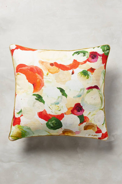 Collaged Fauna Pillow by Patricia Vargas of Parima Studio for Anthropologie