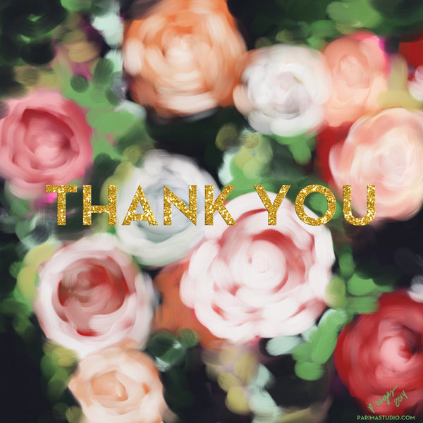 Free Thank You Print by Parima Studio