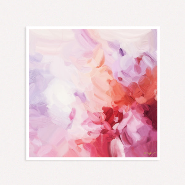 Aerial - large pink abstract art print by Parima Studio