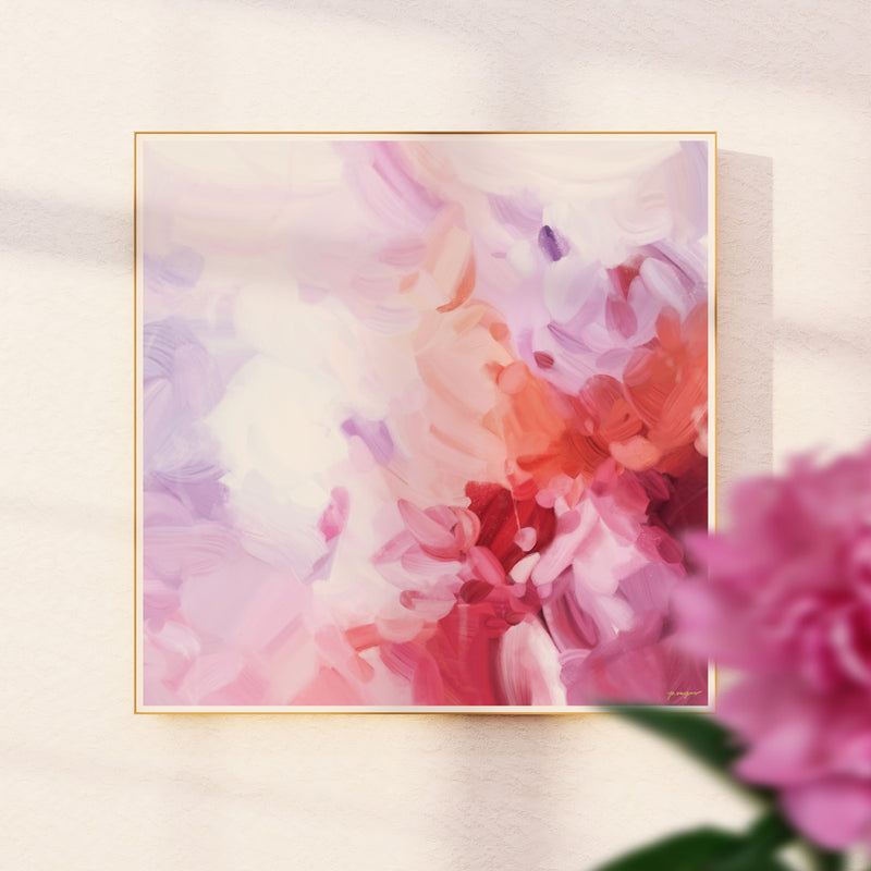 Aerial - Oversized pink abstract art print by Parima Studio