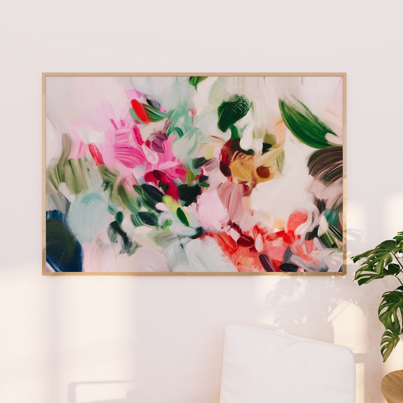 Large scale abstract art - Oversized art - Bloom, colorful abstract art print by Parima Studio