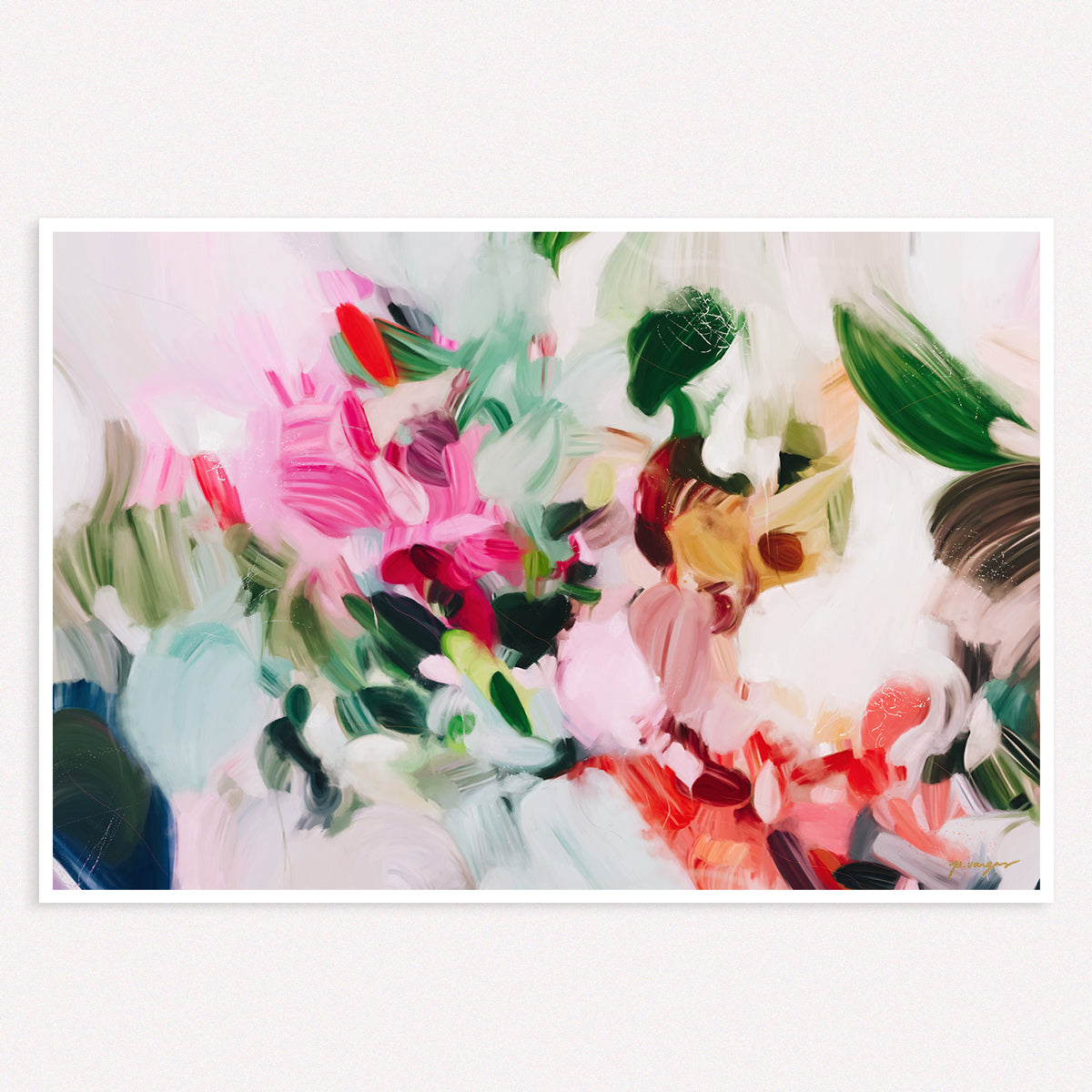 Bloom, colorful abstract art print by Parima Studio