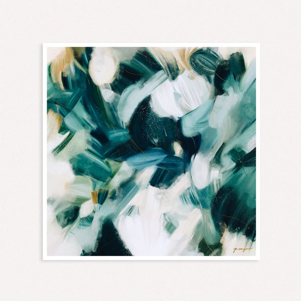 Caspian, blue abstract art print by Parima Studio