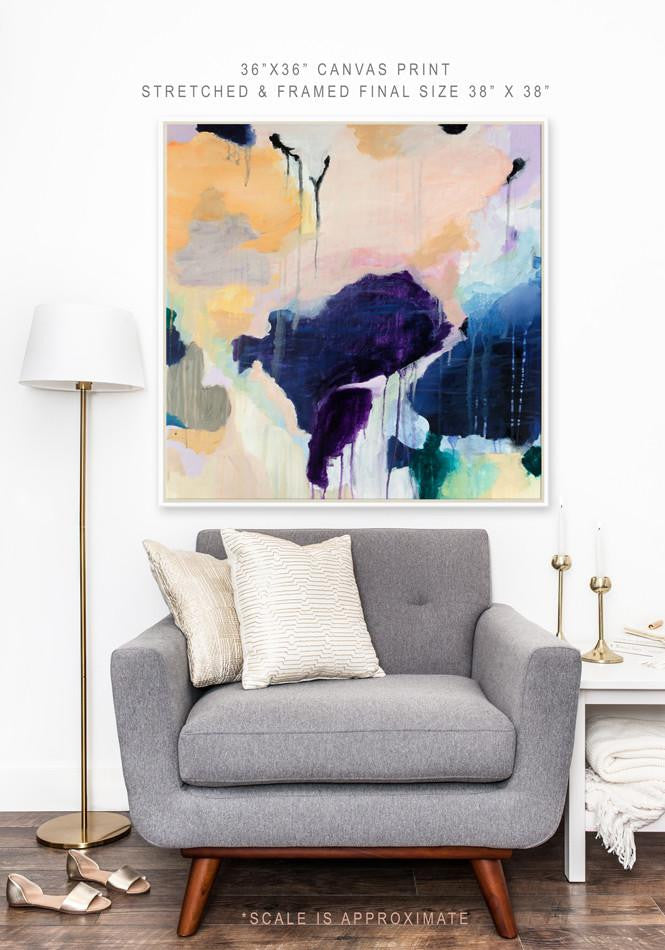 Claire by Parima Studio, abstract canvas print with white frame
