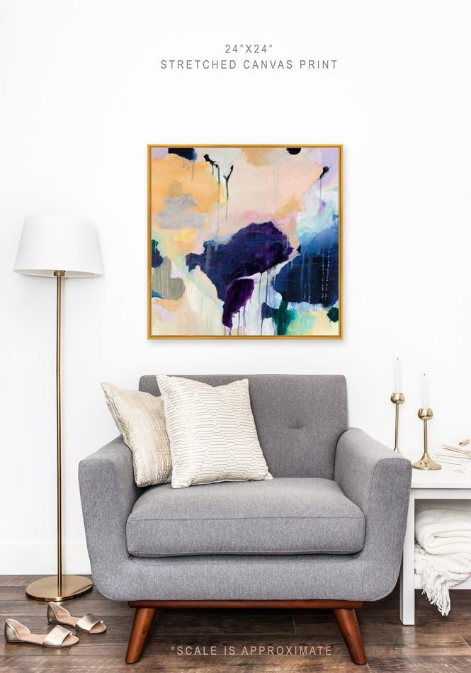 Claire by Parima Studio, abstract canvas print with gold frame