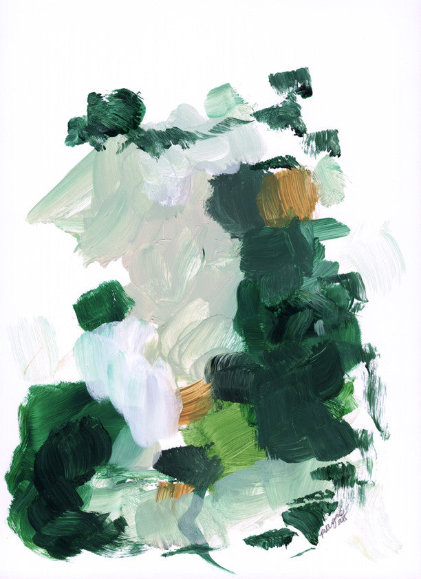 Color Series No. 1 by Parima Studio // abstract green painting art