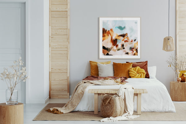 Dawson, large wall art for over the bed by Parima Studio.