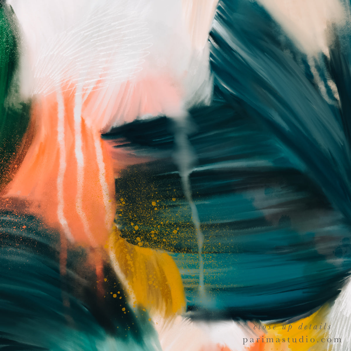 Close up of Estelle, abstract art print by Parima Studio