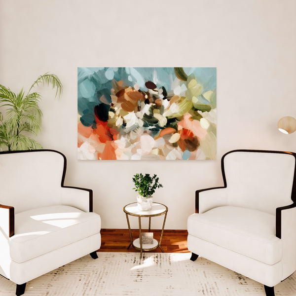 Large scale abstract art print - Eternal Sea by Parima Studio - p.vargas - Neutral art for living room