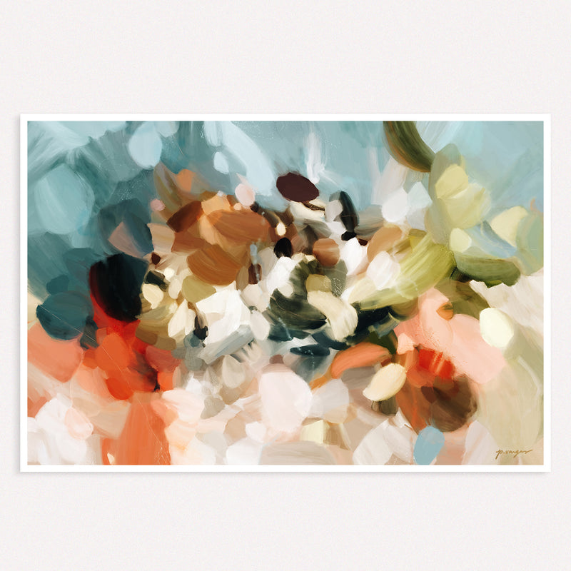 Eternal Sea, neutral abstract art print by Parima Studio