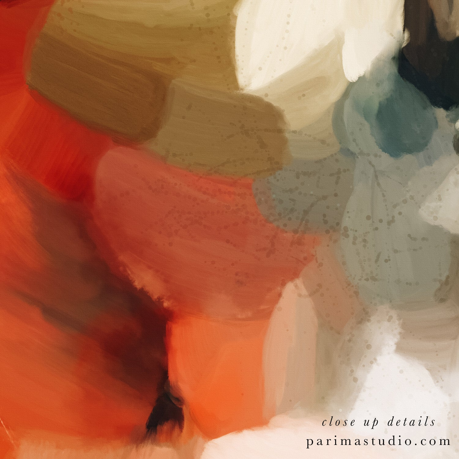 Close up of Eternal Sea, neutral abstract art print by Parima Studio