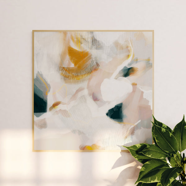 Large scale abstract art print - Evangeline by Parima Studio - Soft neutral color palette