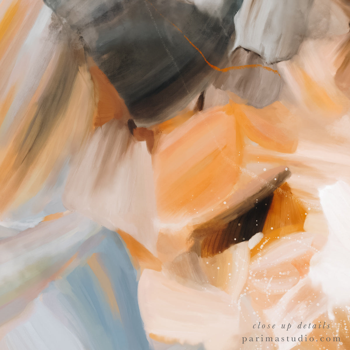 Close up of Grasslands, abstract art print by Parima Studio