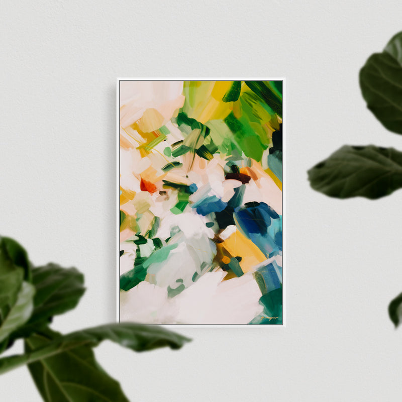 Birds of Paradise, colorful abstract art print by Parima Studio - canvas