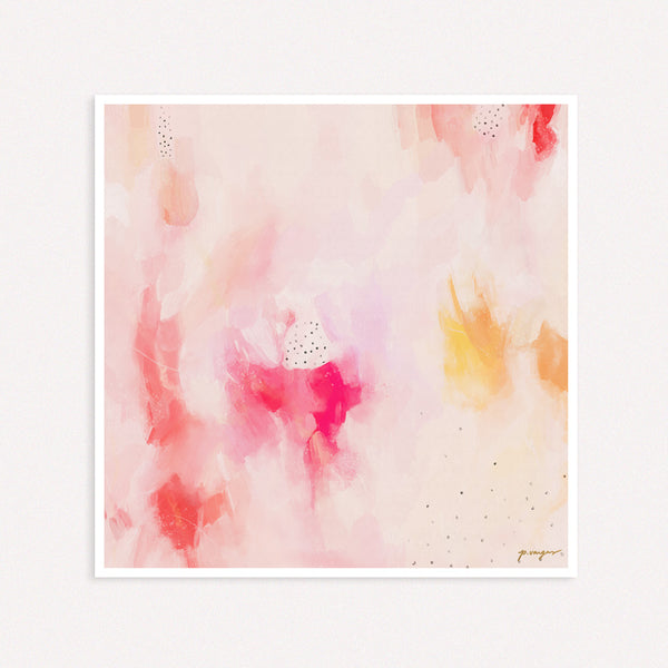In Pink, large abstract art print by Parima Studio - Square wall art