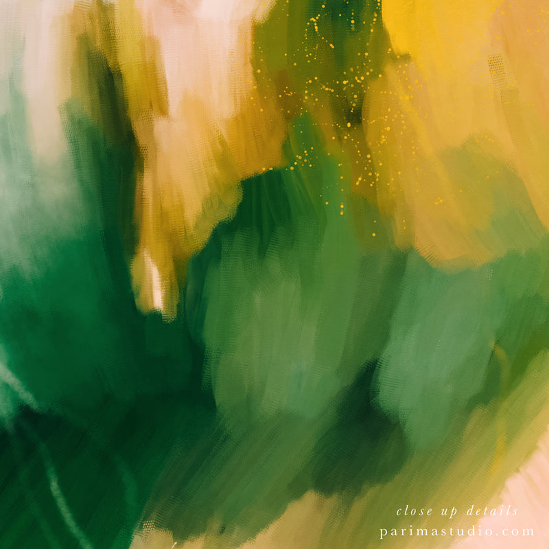 Close up of La Selva - Tropical abstract art print by Parima Studio