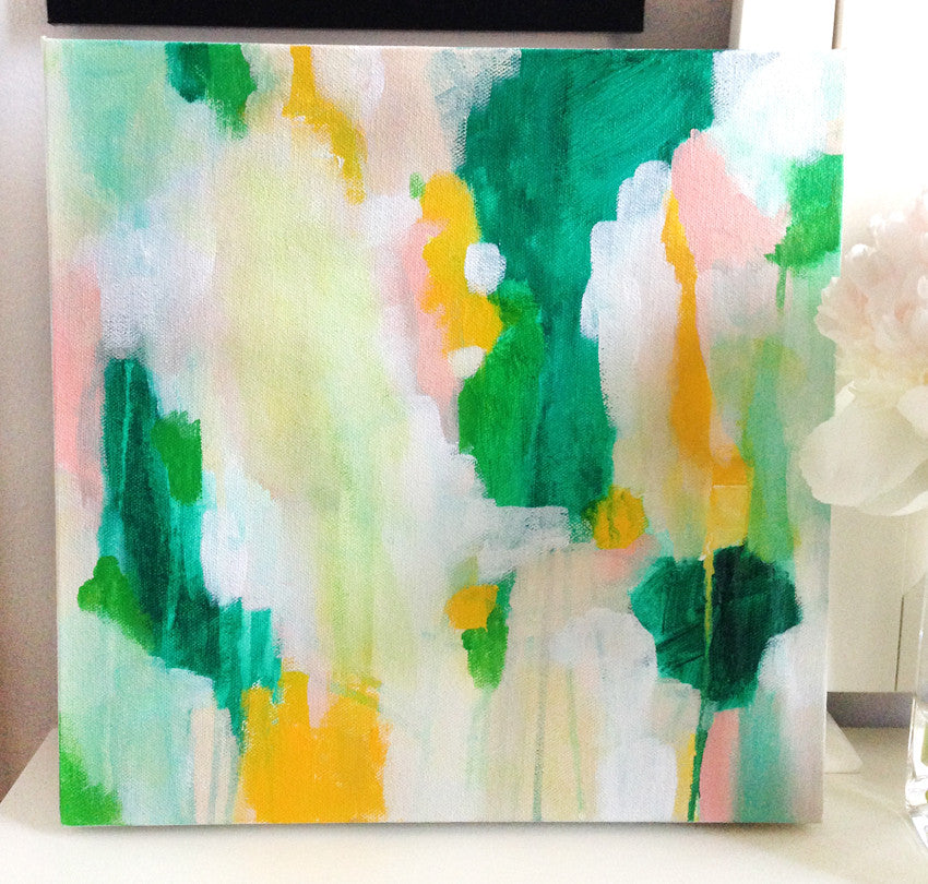Leighla original abstract painting by Parima Studio