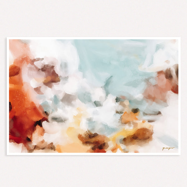 Mirage - abstract art print by Parima Studio - Neutral wall art