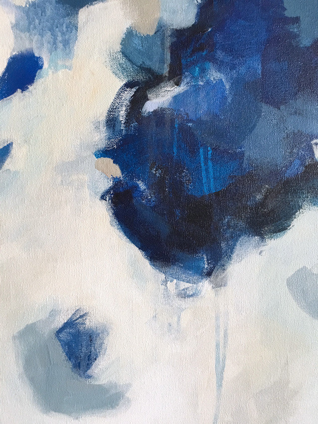 Nuve by Parima Studio - Closeup shot // blue abstract acrylic painting