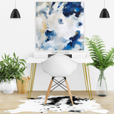 Nuve by Parima Studio // abstract blue neutral acrylic painting