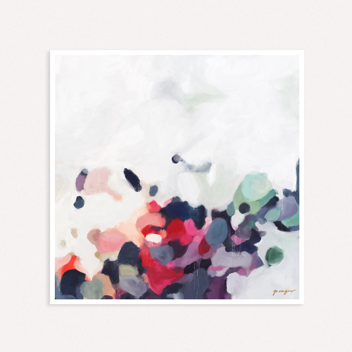 October, large abstract art print by Parima Studio