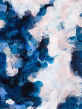 Pamela by Patricia Vargas // blue pink abstract painting