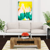 Pina by Patricia Vargas of Parima Studio // abstract green yellow painting