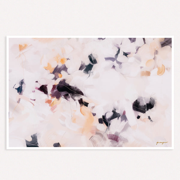 Plumas, large abstract art print by Parima Studio- purple art