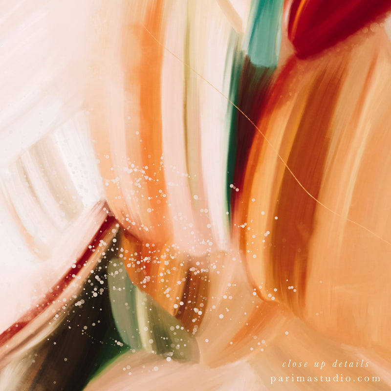 Close up of Solitude No.3, neutral abstract art print by Parima Studio
