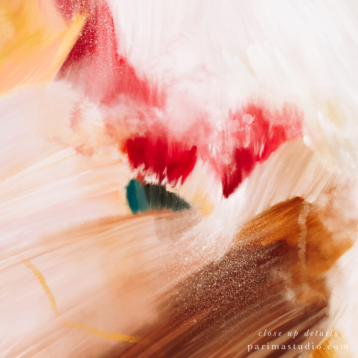 Close up of Talia, abstract art print by Parima Studio-