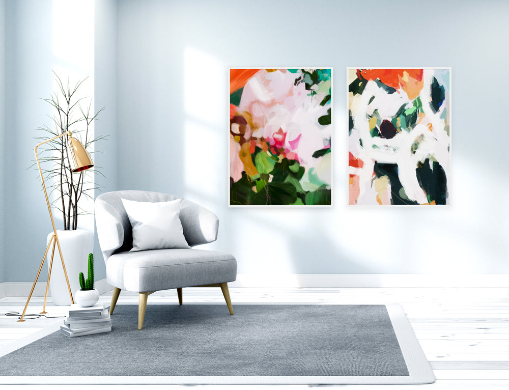 Thea & Alta, Set of 2 Abstract Art Prints