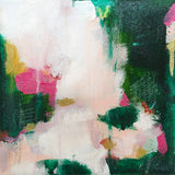 Vera by Patricia Vargas // abstract green pink gold painting
